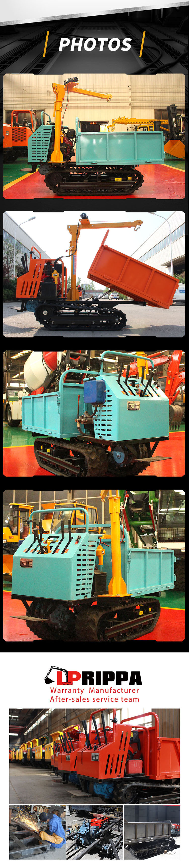 1.2 ton crawler truck-Rippa China