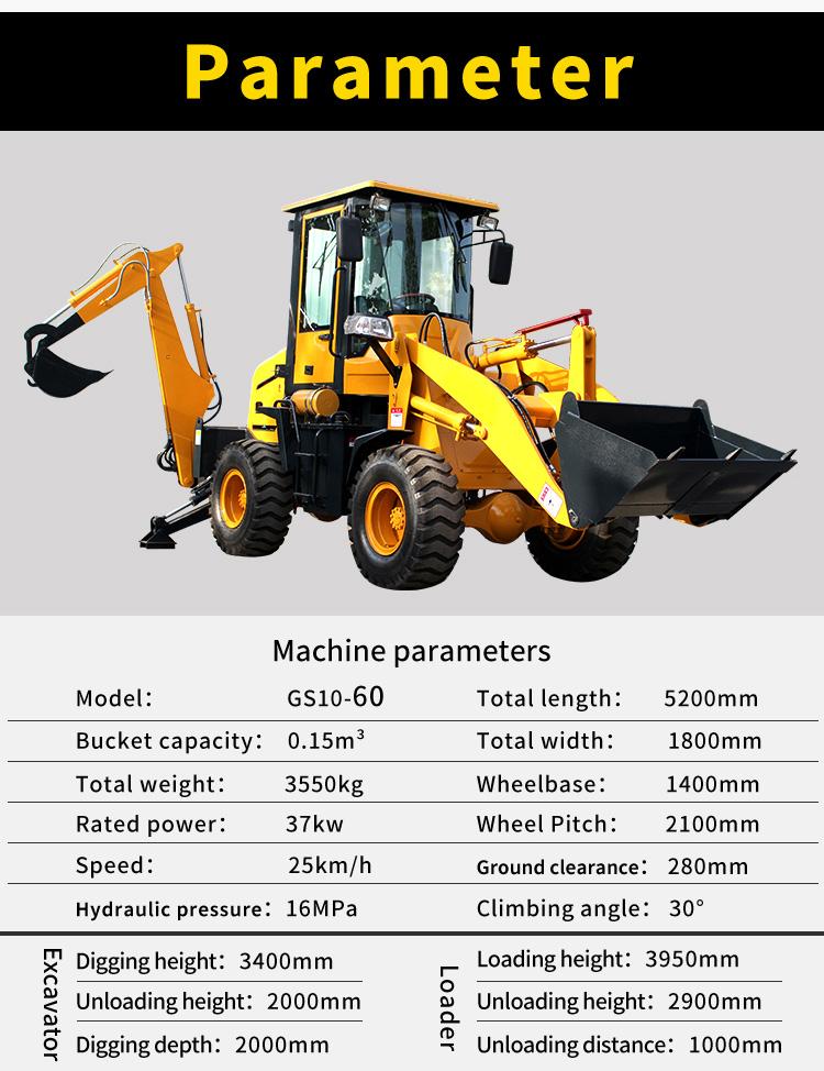 backhoe digger loader-Rippa China