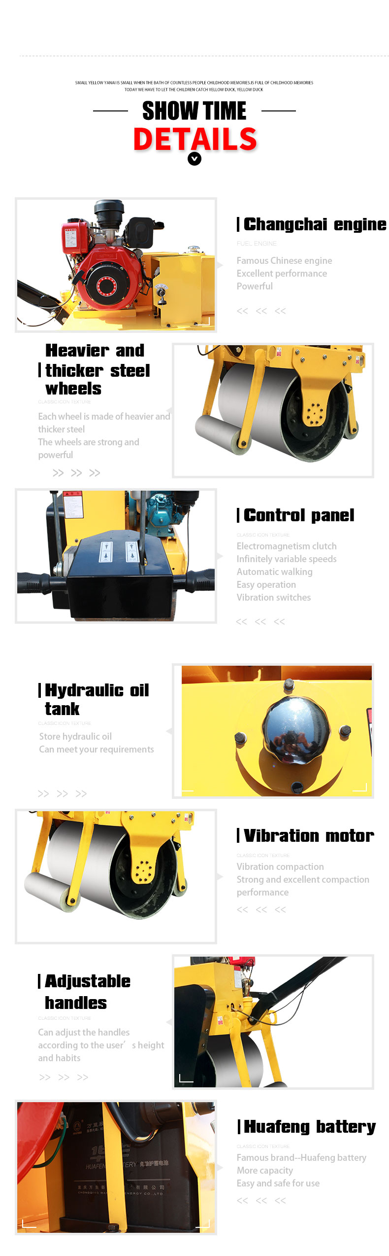 Double drum road roller Walking single drum roller-Rippa China
