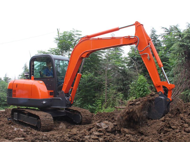 Construction case of 6 ton excavator